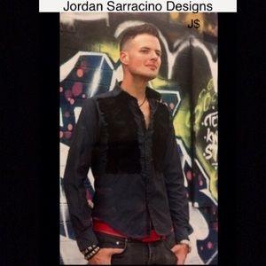 jordan sarracino designs buttondown w/embroidery